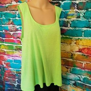 Bright lime/ neon green tank